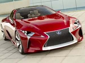 "Lexus LF-LC Sports Coupe Concept Car Poster Print on 10 mil Archival Satin Paper 16"" x 12"""