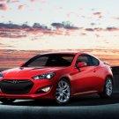 "Hyundai Genesis Coupe (2013) Car Poster Print on 10 mil Archival Satin Paper 16"" x 12"""