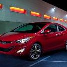 "Hyundai Elantra Coupe (2013) Car Poster Print on 10 mil Archival Satin Paper 24"" x 18"""