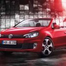 "Volkswagen Golf Cabriolet (2012) Car Poster Print on 10 mil Archival Satin Paper 36"" x 24"""