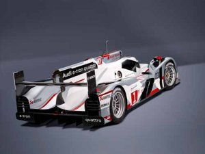 "Audi R18 E Tron Quattro Race Car Poster Print on 10 mil Archival Satin Paper 20"" x 15"""