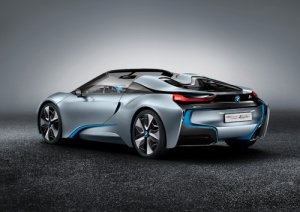 "BMW i8 Spyder Concept Car Poster Print on 10 mil Archival Satin Paper 20"" x 15"""