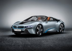 "BMW i8 Spyder Concept Car Poster Print on 10 mil Archival Satin Paper 24"" x 18"""
