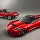 "Chevrolet Corvette Stingray (2014) Car Poster Print on 10 mil Archival Satin Paper 24"" x 18"""