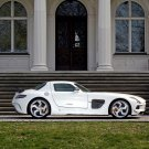 "Mercedes-Benz SGA Aerodynamics SLS AMG (2014) Car Art Print on 10 mil Archival Satin Paper 17""x11"""