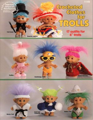 Crochet Clothes for Troll Dolls Pattern Book NEW