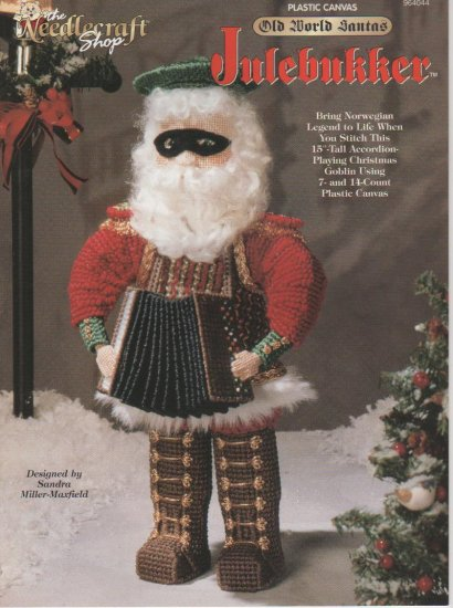 Old World Santa Julebukker, Plastic Canvas Pattern Book, NEW
