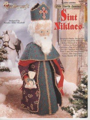 Old World Santa, Sint Niklaes, Plastic Canvas Pattern, NEW