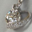 No 5 sterling silver pendant with CZ's #314