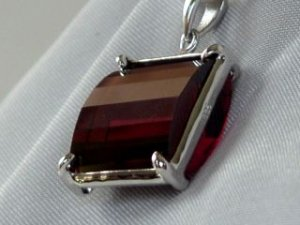 Zircon box  and sterling silver #318
