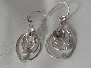 Sterling silver multi rings #321 earrings