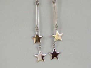 Sterling silver earrings in fire work