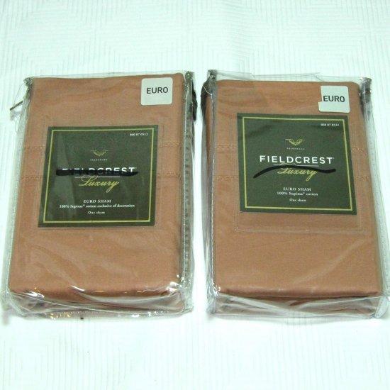 Fieldcrest Luxury CORAL 2 EURO SHAMS Nutmeg