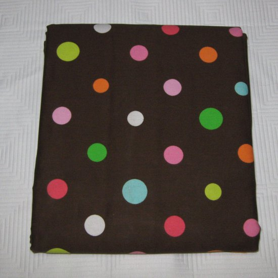 Target Home LOTS O DOTS Brown Multi Fabric Shower  Curtain