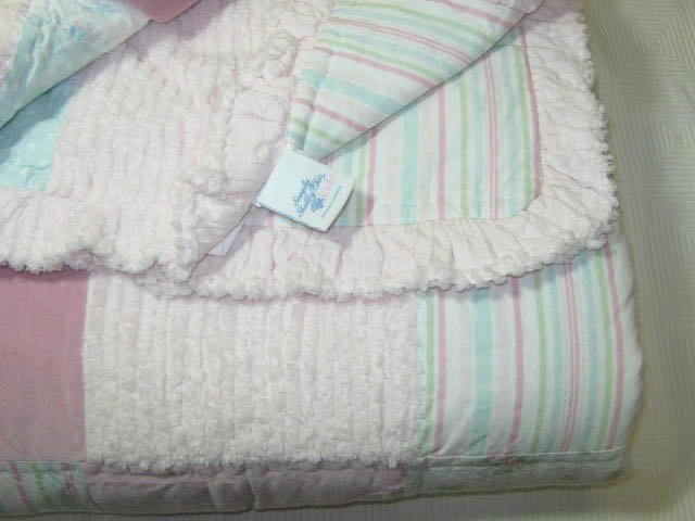 Simply Shabby Chic Kids Chenille Pink Patchwork 3 Pc Queen