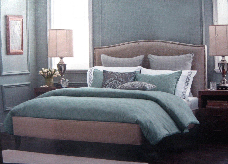 Fieldcrest Luxury Icon Sterling Blue 3 Pc Comforter Set