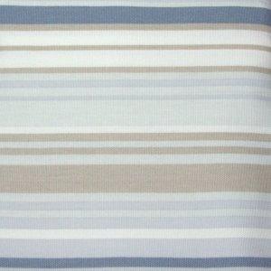 Kohls Free Spirit BLUE TAN STRIPE Shower Curtain