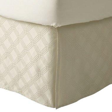Fieldcrest Luxury ICON CREAM Queen Bedskirt Target