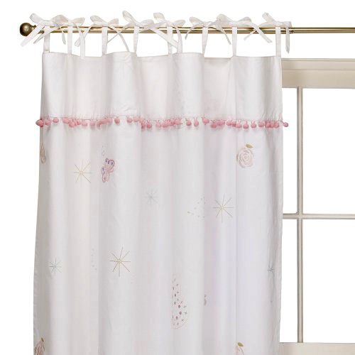 Simply Shabby Chic FAIRY TALE 1 Window Panel 54 X 84 Pink Blue Embroidered Curtain
