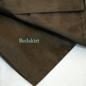 Kohl's PARK AVENUE LUXURY Brown Queen Bedskirt Faux Silk Polyester