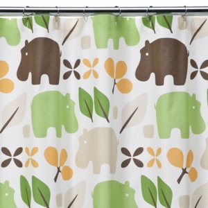 Dwell Studio HIPPO Target Fabric Shower Curtain