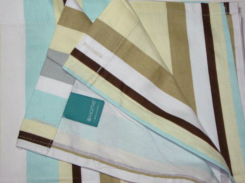 Usps Return Label >> Target Home Aqua Tan Cream Gray Brown Stripe Fabric Shower ...