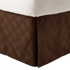 Fieldcrest Luxury ICON BROWN King Bedskirt Target