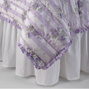 Simply Shabby Chic FULL SIZE White RUFFLED Bedskirt