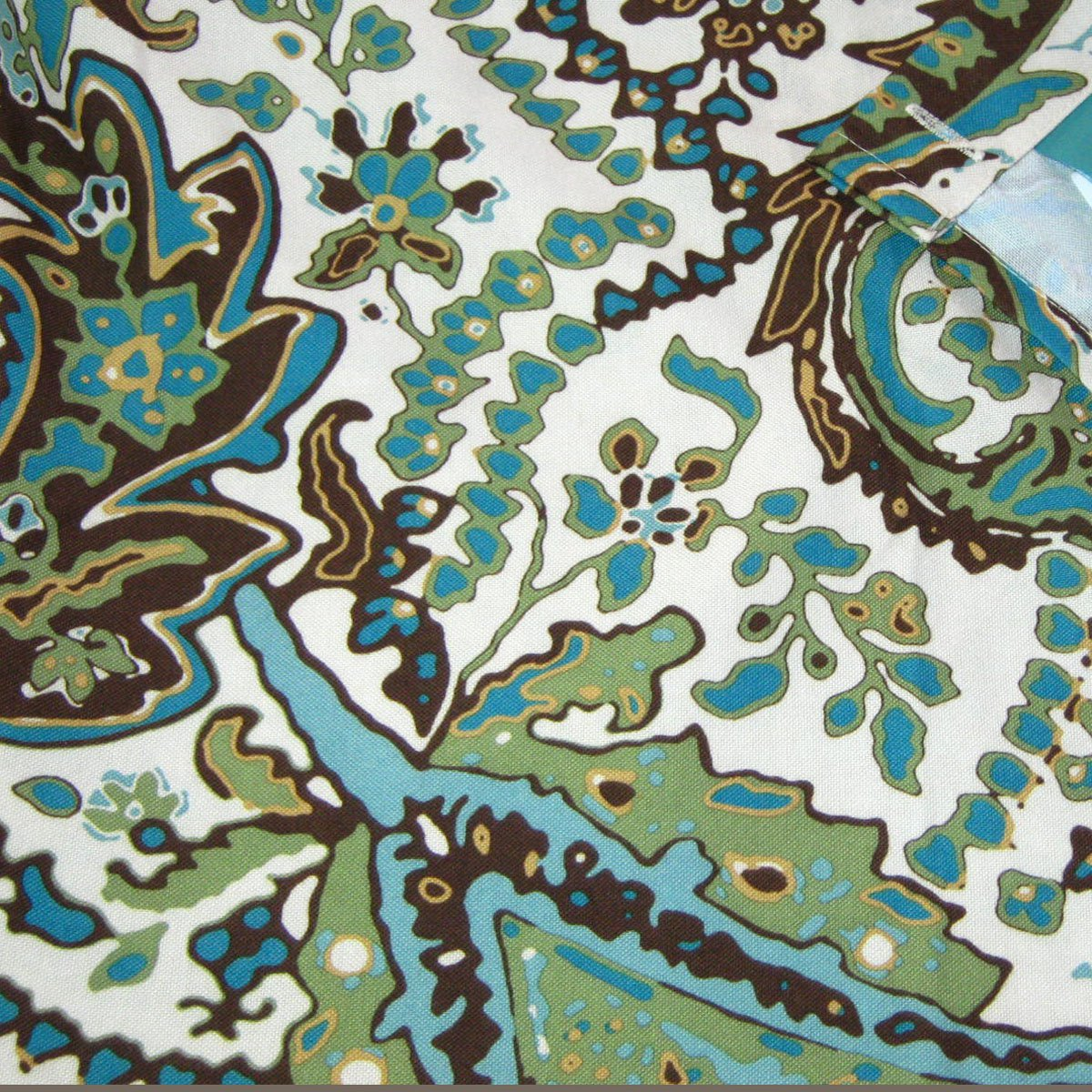 Target Home BLUE GREEN BROWN FLORAL Fabric Shower Curtain