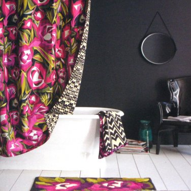 Missoni PASSIONE For Target Fabric Shower Curtain Burgundy Green