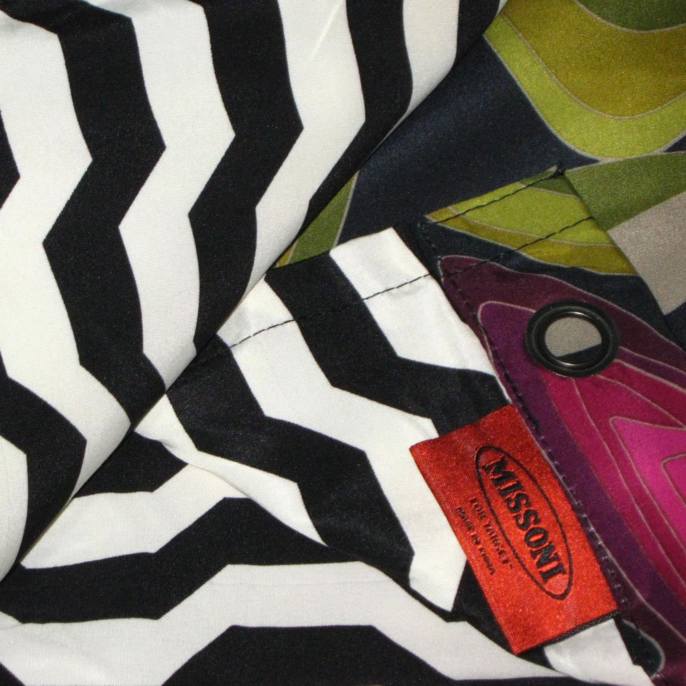 Missoni PASSIONE For Target Fabric Shower Curtain Burgundy Green Black  Lavender