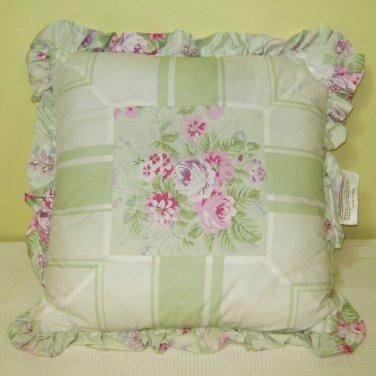 Simply Shabby Chic BRAMBLE ROSE Decorative Throw Pillows Green 16 X 16