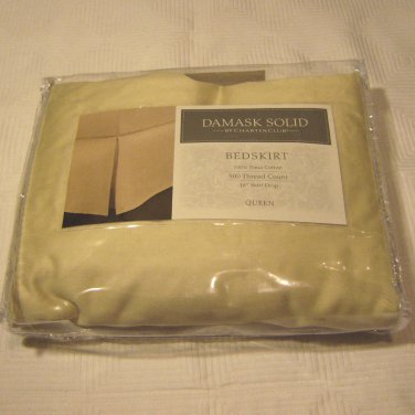Charter Club DAMASK SOLID QUEEN 500 TC Bedskirt Macy's