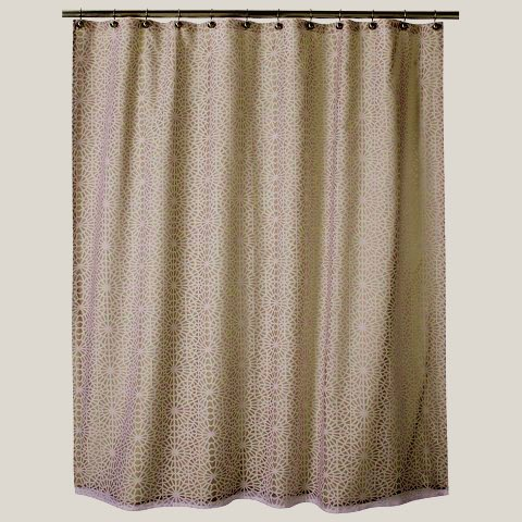 Threshold GEOMETRIC BURNOUT Tan Beige Khaki Fabric Shower Curtain Target