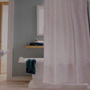 Threshold WHITE VINE SILHOUETTE Jacquard Fabric Shower Curtain Target