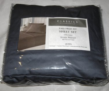 Charter Club Queen TAILORED FIT 400 thread count Sheet Set Blue