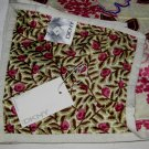 DKNY PLAY Brown Pink REVERSIBLE Floral Fabric Shower Curtain Target