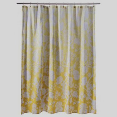 Threshold YELLOW OMBRE FLORAL Fabric Shower Curtain Yellow