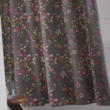 Threshold GREY PINK FLORAL Gray Fabric Shower Curtain Target