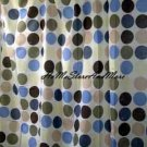 Fun Dots Blue Sage Fabric Shower Curtain New