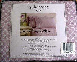 Liz Claiborne Diana King sheet set 4pc New
