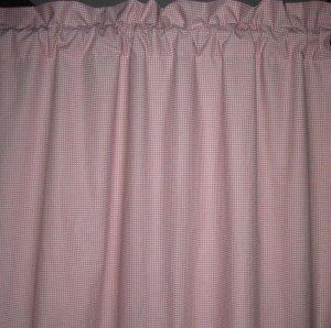 Ralph Lauren Pink Gingham Curtain Drapes Custom New