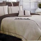 Nautica Fairfield Brown Khaki Duvet Sham Mini Set New 2pc