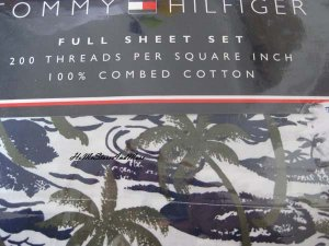 Tommy Hilfiger Roxbury Palms Full Sheet Set 4pc New