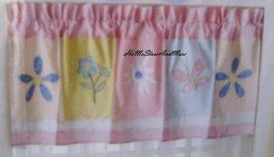 That's mine Girls Flower Bouquet Pink Flower Valance New