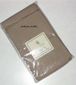 Ralph Lauren Classic Camel 350 Thread Count Supima Cotton Standard Pillowcases New