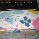 Tommy Hilfiger Malibu Yellow Twin Flannel Sheet Set New