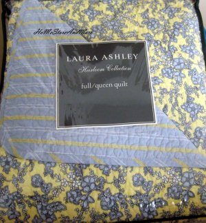 Laura Ashley Heirloom Collection Shabby Floral Full/Queen Quilt Shams Set New