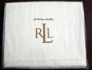 Ralph Lauren Penthouse Jacquard Queen Flat Sheet Set Pillowcases 3pc New