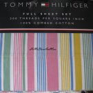 Tommy Hilfiger Daly City Stripes Full Sheet Set 4pc New